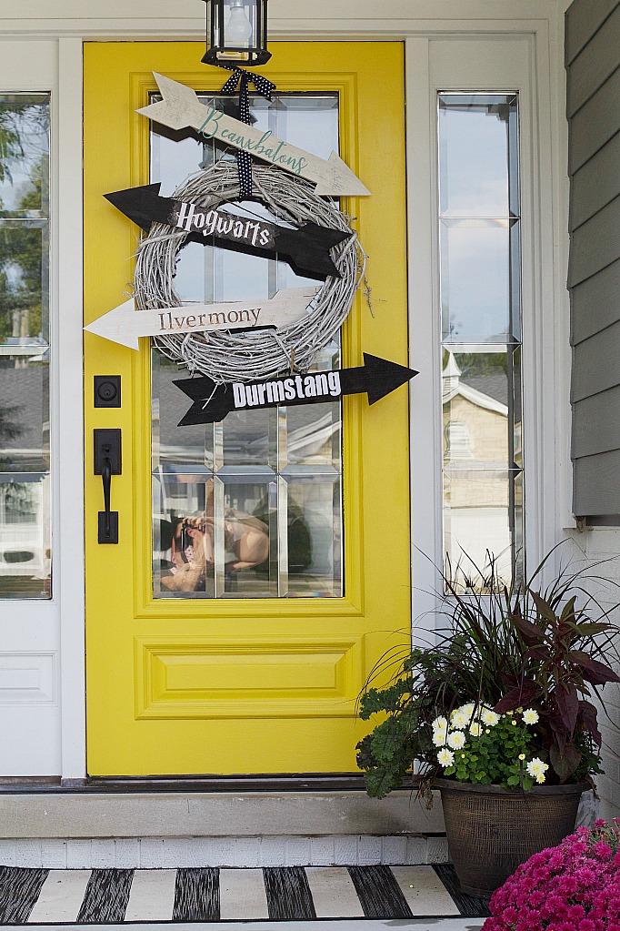 Harry Potter Inspired Halloween Wood Door Signs by Jessica Litman