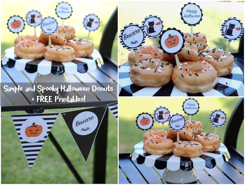 Simple and Spooky Halloween Donut Toppers by Laura Aguirre