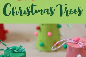 DIY Cork Christmas Tree Ornaments