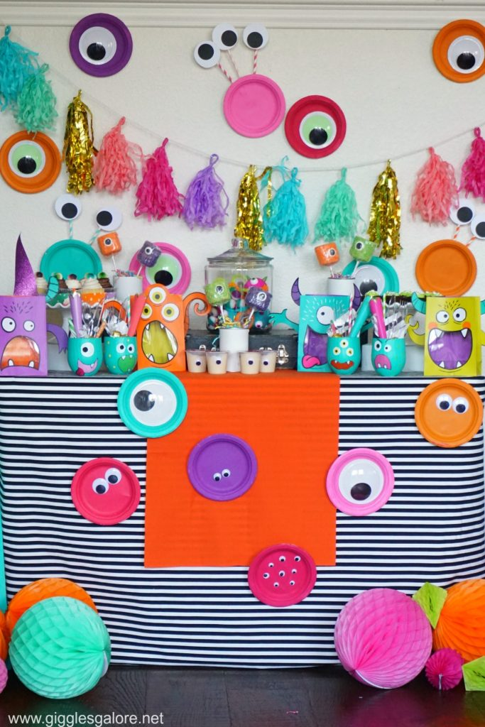 Colorful monster mash party