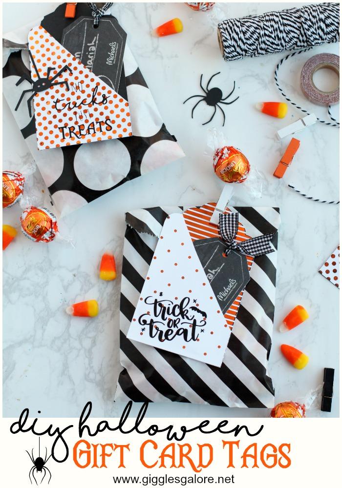 Halloween Gift Tags Halloween Handmade Party Favors Handmade Halloween Gift Cards Halloween basket tags