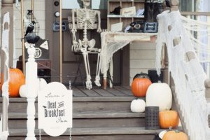 Dead and Breakfast Inn Halloween Front Porch