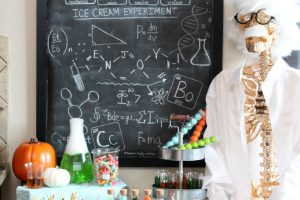 Mad Scientist Halloween Ice Cream Party