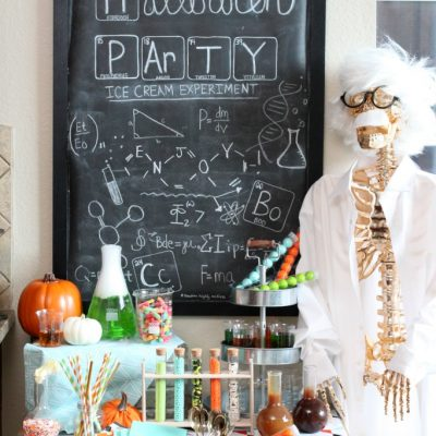 Mad scientist halloween party ice cream experiment
