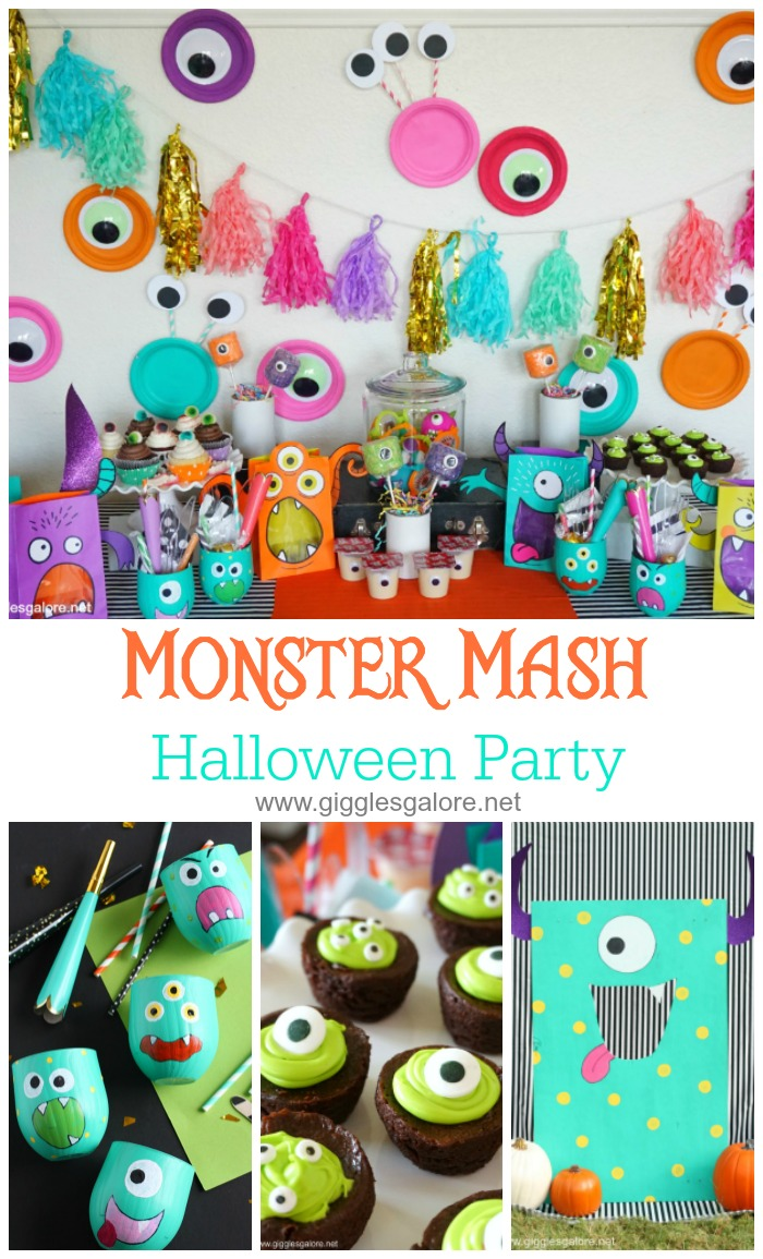 colorful halloween monster mash party - giggles galore
