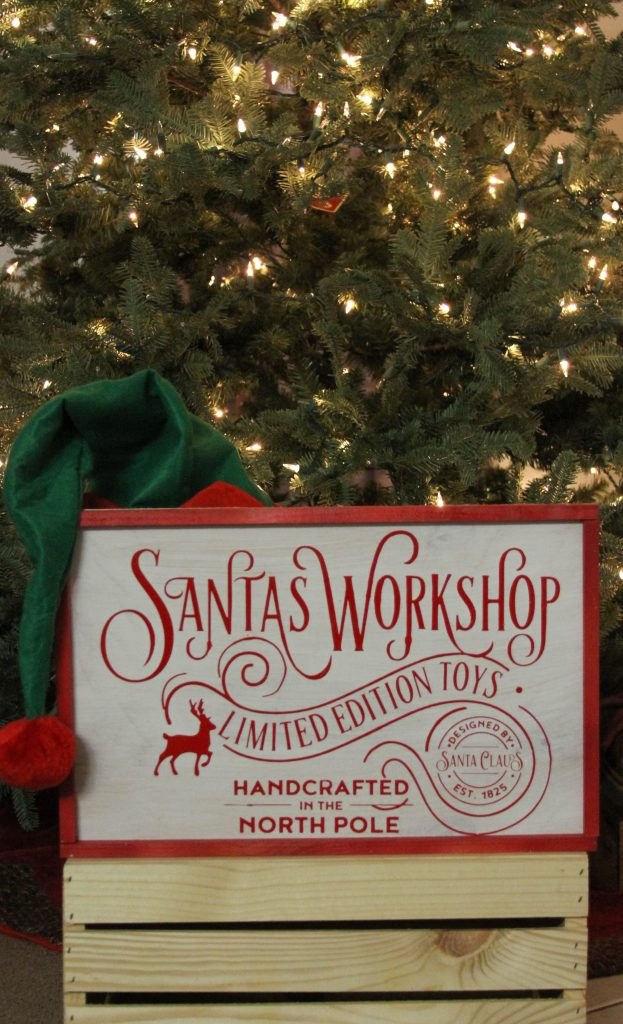Everyday Party Magazine Santa's Workshop Sign DIY