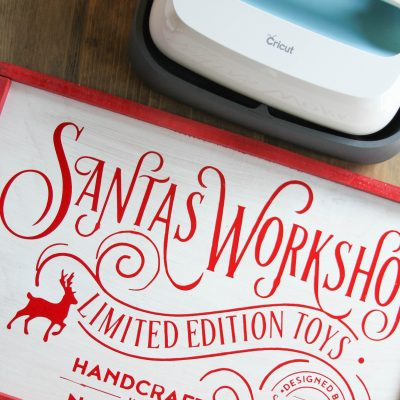 DIY Santa's Workshop Wood Sign