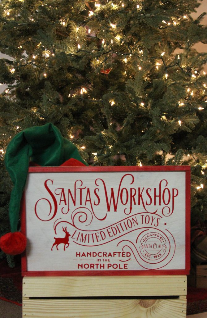 Everyday Party Magazine for Giggles Galore Santa's Workshop Sign DIY