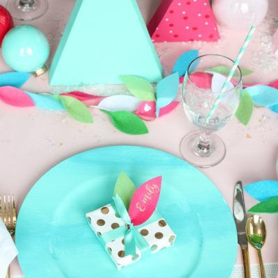 Merry & Bright Holiday Table Setting