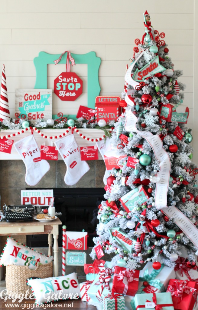 christmas color scheme im absolutely smitten with my whimsical north pole decorations this year for more fun christmas inspiration be sure to check - North Pole Christmas Decorations