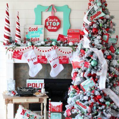 Polar Post Christmas Tree – Michaels Dream Tree Challenge
