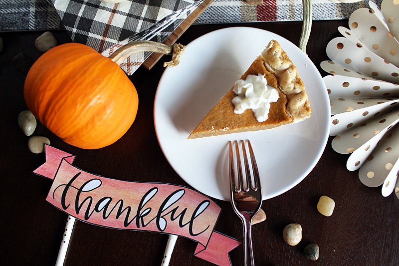 """Thankful"" Dessert Topper by Mariah Leeson"