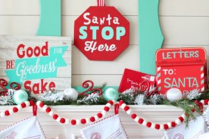 Whimsical North Pole Christmas Mantel with Cricut Explore Air 2