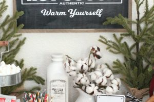 Farmhouse Style Hot Cocoa Bar