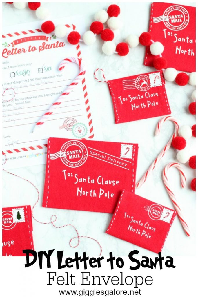 DIY Letter to Santa Felt Envelope - Cricut Christmas Crafts by Mariah Leeson