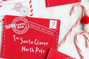 DIY Letter to Santa Felt Envelope