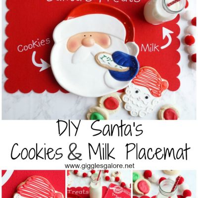 DIY Santa's Cookies & Milk Placemat with Cricut