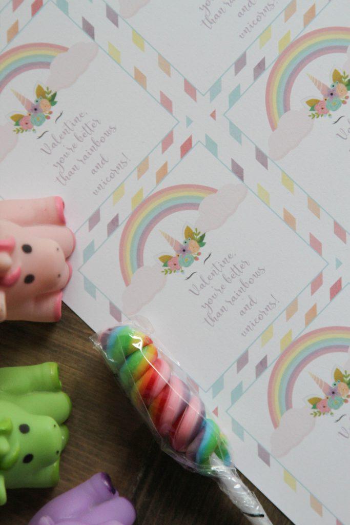 Everyday Party Magazine Unicorn Valentine's Day Printables