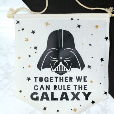 DIY Star Wars Darth Vader Canvas Wall Banner