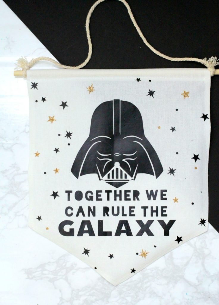 Star wars darth vader hanging banner