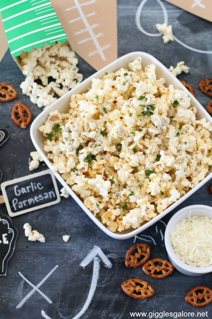 Game Day Popcorn and Pretzel Bar