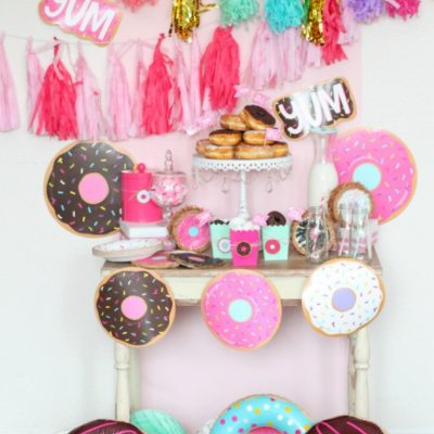 Cute and Simple Donut Themed Party