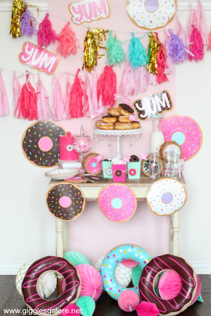 Cute And Simple Donut Themed Party Giggles Galore