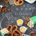Game Day Popcorn and Pretzel Bar