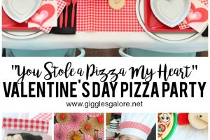 """You Stole a Pizza My Heart"" Valentine's Day Pizza Party"