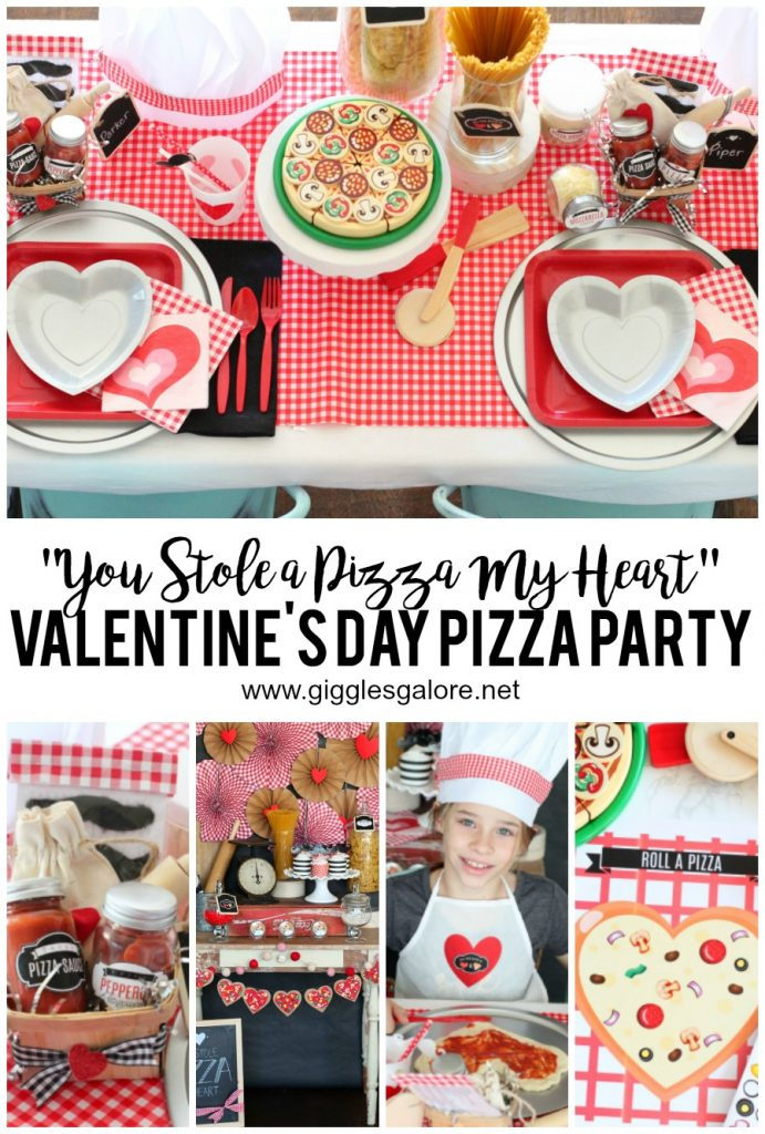 You Stole A Pizza My Heart Valentine's Day Party by Mariah Leeson
