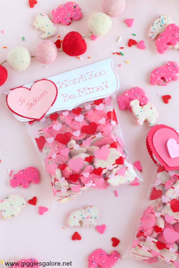 """Wont Zoo Be Mine?"" Valentines Printable by Mariah Leeson"