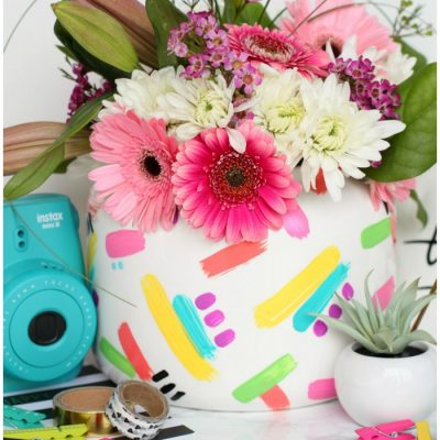 DIY Modern Brushstroke Vase