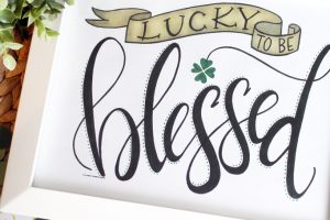 FREE Hand Lettered St. Patrick's Day art print