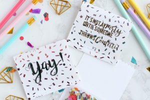 DIY Confetti Favors with Fancy Foils