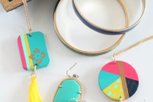 DIY Hand Painted Pendant Necklaces