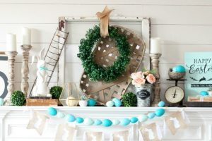 Modern Farmhouse Spring Mantel