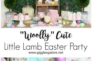 Woolly Cute Little Lamb Easter Party