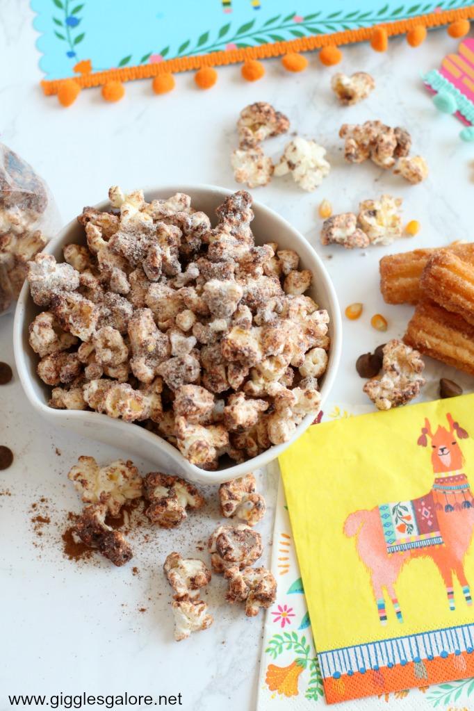 Chocolate Churro Popcorn