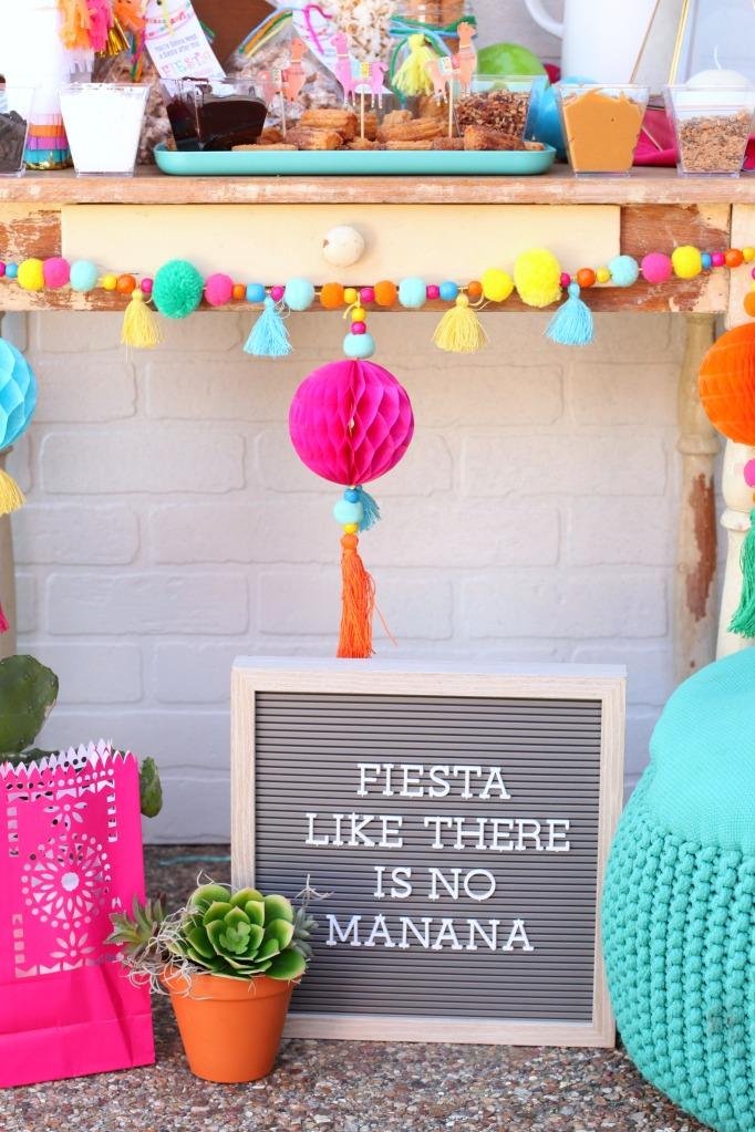Fiesta Like There Is No Mañana Letter Board