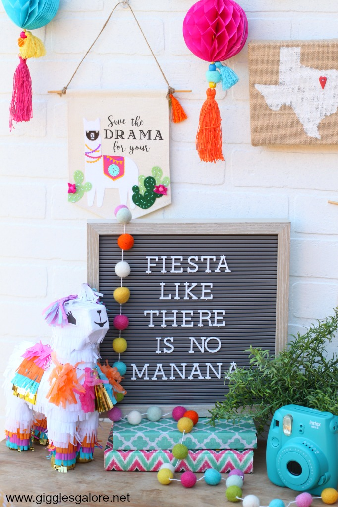 Save the Drama for your Llama Canvas Hanging Banner