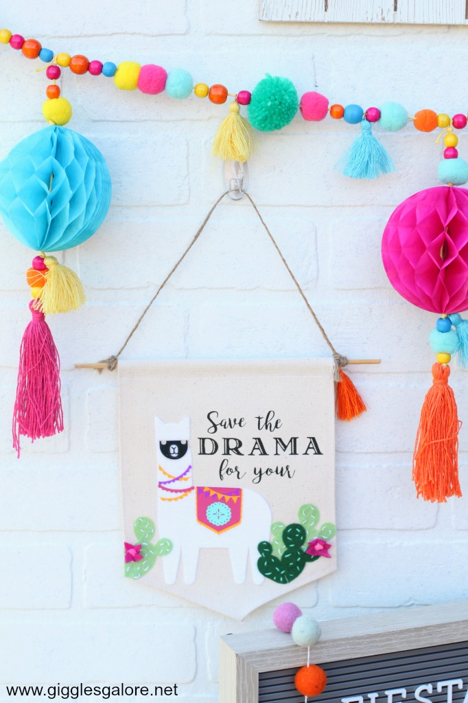 Save the Drama for Your Llama Hanging Banner