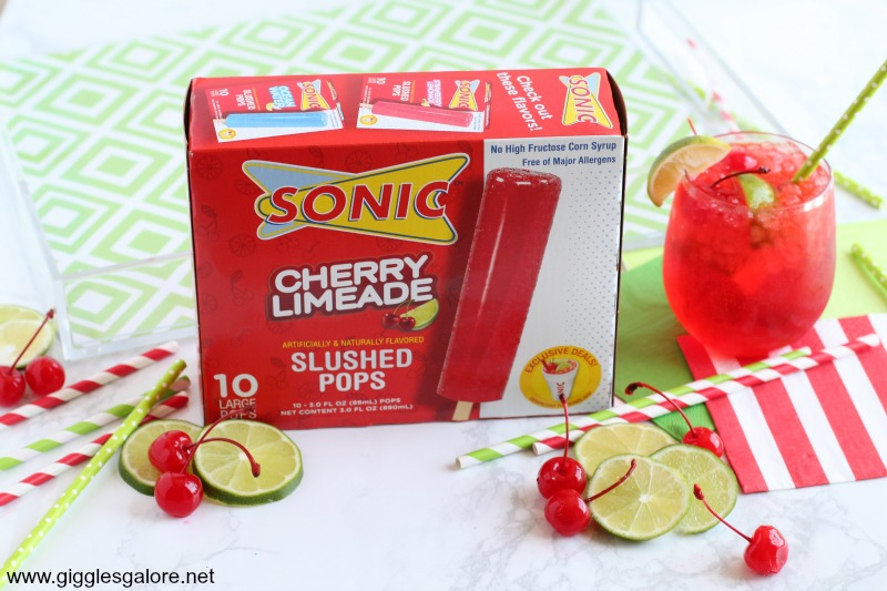 SONIC Cherry Limeade Slushed Pops