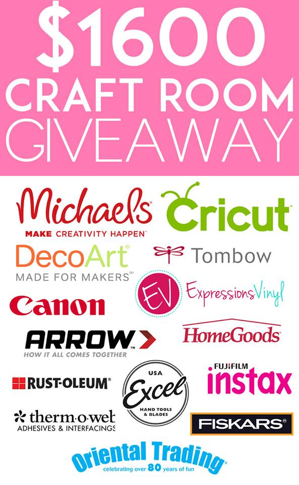 $1600 Stock Your Craft Room GIVEAWAY!!!