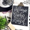 FREE Hand Lettered Teacher Appreciation Print