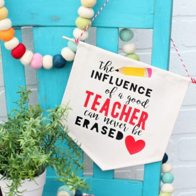 The influence of a good teacher can never be erased banner