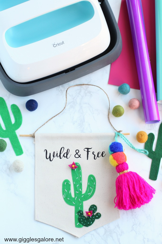 Wild and Free Canvas Banner with Cricut Maker