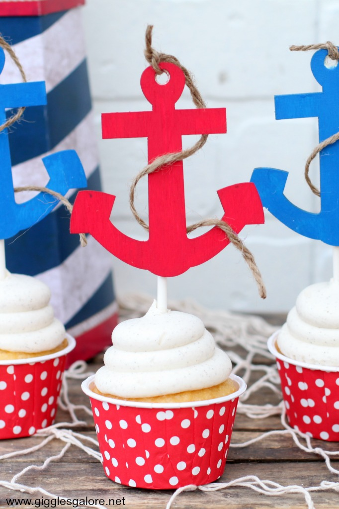 Chipboard Anchor Cupcake Toppers