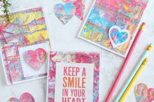 Mother's Day Cards with DIY Marbled Shaving Cream Paper