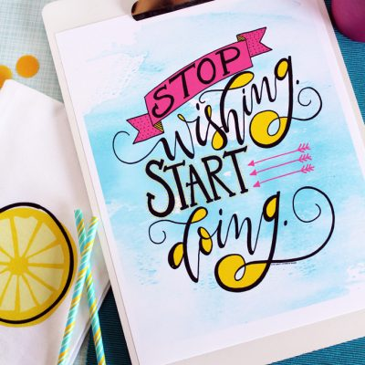 FREE Inspirational Summer Art Print