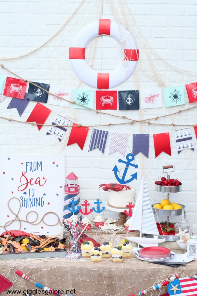 Nautical 4th of July Party